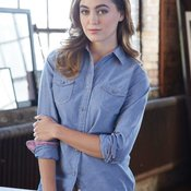 Vintage Ladies' Chambray Long Sleeve Shirt