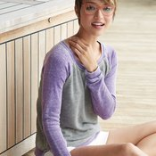 Ladies' Zen Fleece Raglan Sleeve Crewneck Sweatshirt