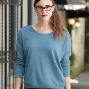 Eco Mock Twist French Terry Ladies' Sunset Crewneck Pullover