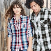 Ladies' Long Sleeve Plaid Shirt