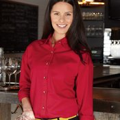 Ladies' Long Sleeve Cotton Twill Shirt