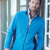 Colorblocked Full-Zip Microfleece Jacket